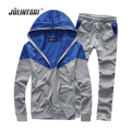2017 Spring Polo Sweat Suit Moleton Masculino Casual Plus Size 5XL Men's Tracksuits Sets Zipper Sweatershirts Cardigan+Pant Sets