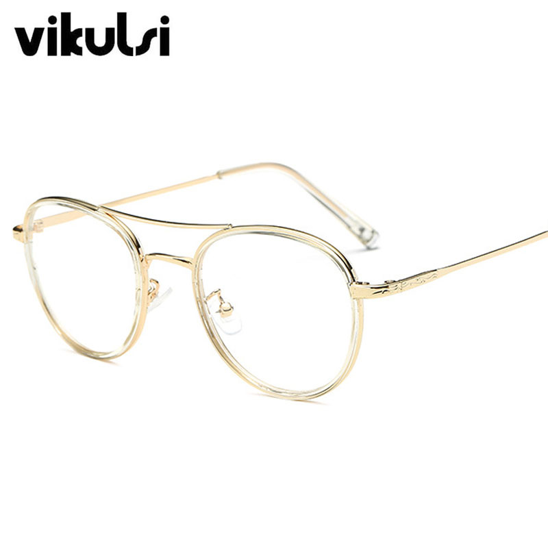 Alta calidad moda Aviator Gafas lunette hombres vintage metal Marcos ...