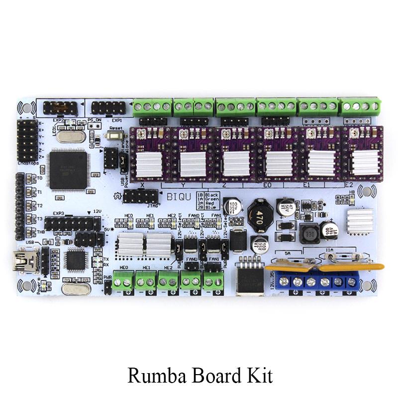 Prix pour BIQU Rumba carte mère rumba MPU RUMBA optimisé version Tableau de commande avec 6 pcs Drv8825 Stepper Pilote