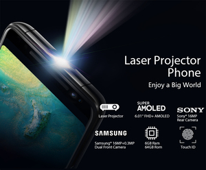 Image 2 - Blackview MAX 1 Mini Projector Draagbare Home Theater MT6763T Android 8.1 Cellphone 6GB + 64GB NFC OTG LTE 6.01 Smartphone MAX1