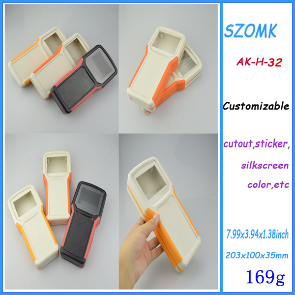 1 piece handheld plastic enclosure abs plastic junction box portable instrument box