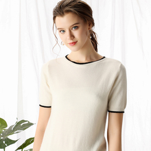 Litvriyh pure cashmere sweater women pullover short sleeve O-neck soft female knitted pull femme jumpers