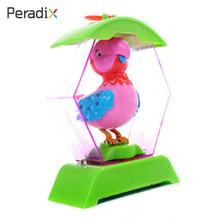 Singing Cute Singer Bird Gifts Electric Plastic Voice Control Decor Birdcage(China)