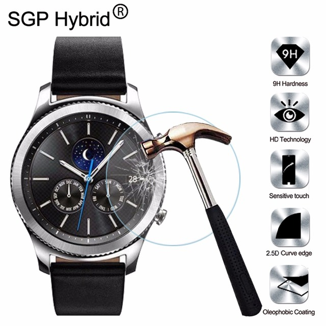 507008c4b33 Tempered Glass Screen Protector Film For Samsung Gear S3 Classic / S3  Frontier / S3 Frontier