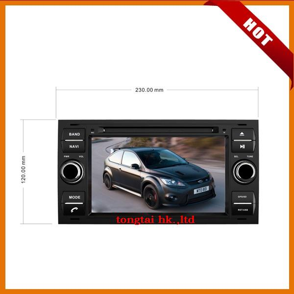 7 inch digital touch screen 2 DIN car DVD player Navigation for FORD FOCUS 2007 2008