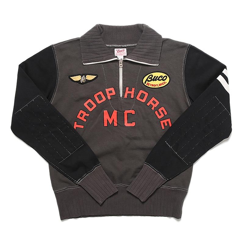 TroopHorse MC التطريز البلوز خمر قصيرة السترة دراجة نارية سترة أعلى مقهى المتسابق سباق جيرسي للرجال-في قمصان وسترات بقلنسوة من ملابس الرجال على  مجموعة 3