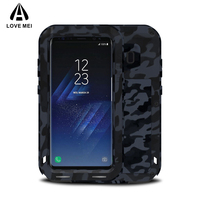 Love Mei Camouflage Metal Aluminum Armor Case For Samsung Galaxy S8 S8 Plus Cover Powerful Shockproof