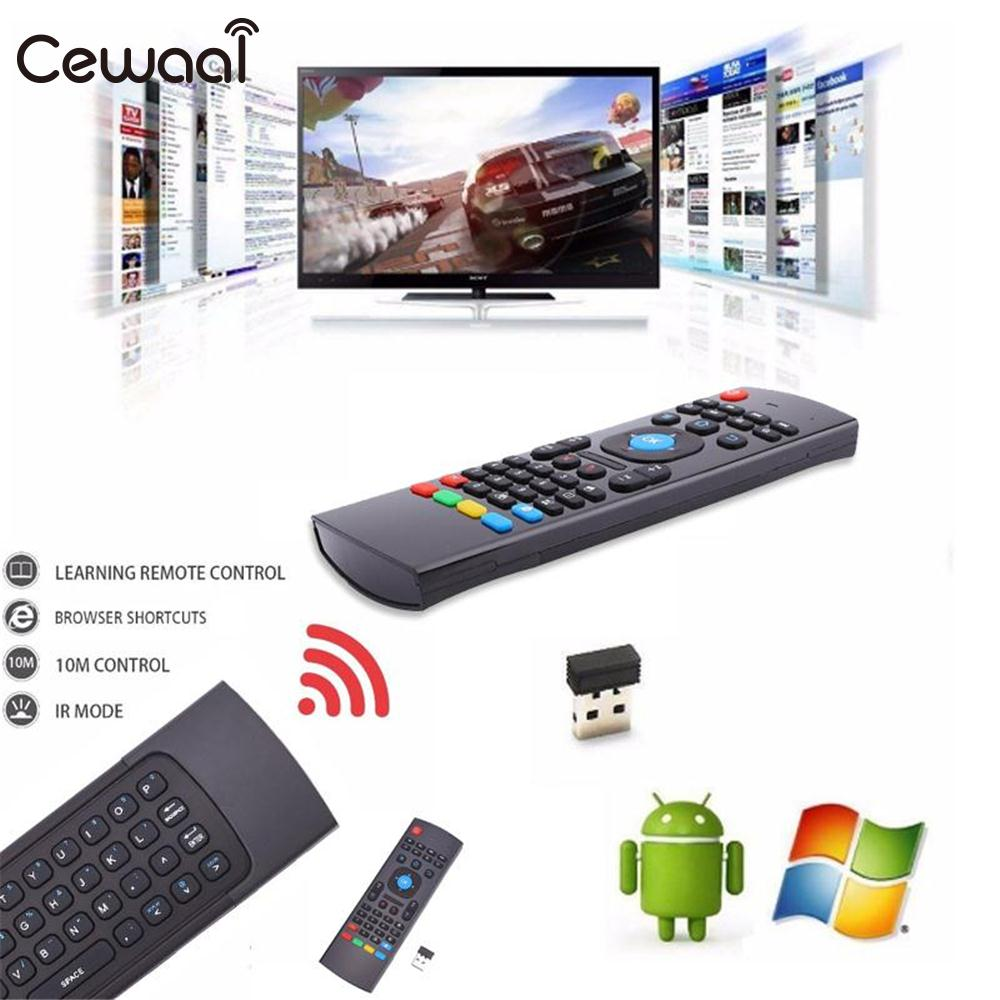 Cewaal MX3 2.4GHz Wireless Mini Air QWERTY Keyboard Remote Control For Android TV Box Television RC Controllers