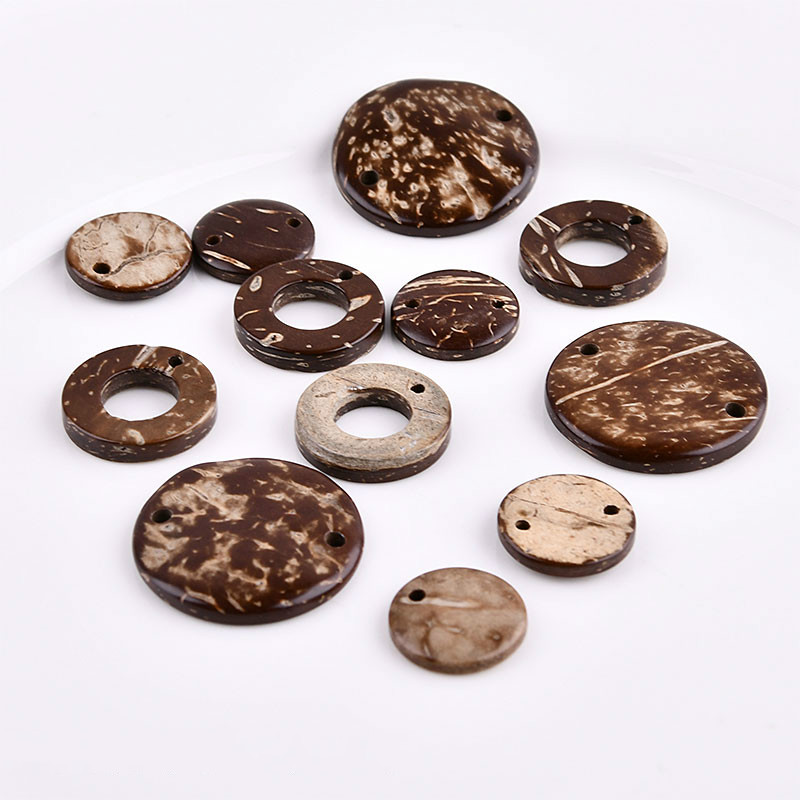 Tibetan Primary Coconut Shell Round Hand Beaded Spacer DIY Earrings Earrings Bracelet Beads Jewelry Accessories