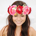 Nova Forma Das Mulheres Bohemiab Praia Férias Headband da Flor De Noiva Da Dama de Honra Flores Hairband Headwear Elástico S3217