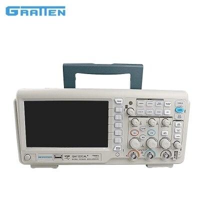Быстрое прибытие ATTEN цифровой хранения 80 МГц осциллограф, осциллоскоп 2 Каналы 1GSa/s USB 7 ''TFT ЖК дисплей AC 240 110 В GA1082CAL +