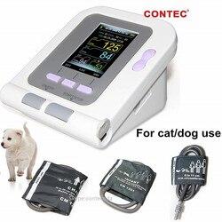 CONTEC08A-VET monitor de pressão arterial veterinária digital nibp manguito, cão/gato/animais de estimação (CONTEC08A-VET com 3 punhos) cuidado animal
