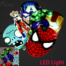 Pulaqi The Avengers LED Sequins Patches Embroidered Sewing On Patch On Clothes Cartoon Patches For Clothing Kids Applique Stripe sequins patches avengers led light patch embroidered patches for clothes diy sewing on patches for clothing applique stripe f