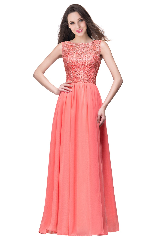 Elegant Dark Navy Chiffon Bridesmaid Dresses Long 2017 Sleeveless ...