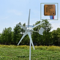 cheap 400watt wind generator 5 blades small wind mill low start up wind generator with MPPT water proof wind controller
