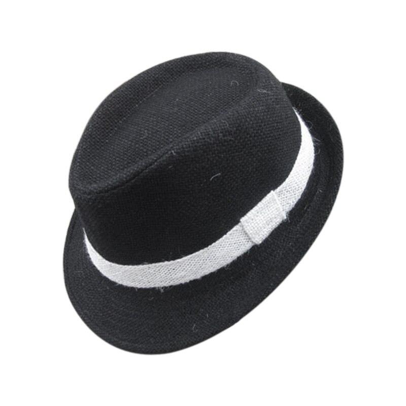 Neue Feste Farbe Baby Fedora Hute Leinen Jazz Caps Kinder Top Hut