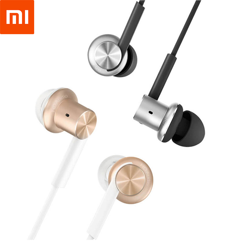 Original Xiaomi Mi Hybrid Stereo In-ear Earphones With Microphone HD Voice Bass Earbuds For IOS Android  Samrtphone PC MP3 mambaman me17 stereo earphones 3 5mm bass headset in ear portable earbuds with microphone for huawei xiaomi iphone 6 mp3 player