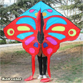 La venta caliente 2015 nuevo anuncio bonita de la mariposa cometa niño grande Kite Flying Toys Nylon Ripstop con mango línea