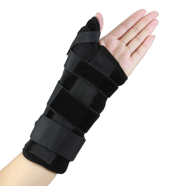14629edec2 Wrist Brace with Thumb Splint New Carpal Tunnel Medical Wrist Support for  Sprain Forearm Splint Band Strap Protector