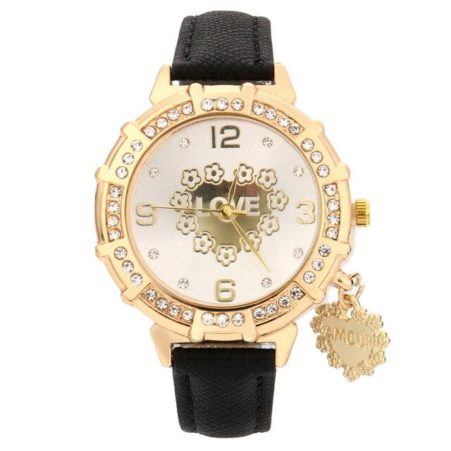 diseño de moda venta outlet elegir original € 1.15 36% de DESCUENTO|Nuevo reloj de cuarzo mujeres marca reloj tous  señora de la manera de la trenza de la correa de muñeca de amor Torre  colgante ...