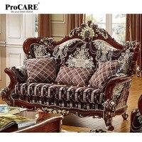 Роскошные мебель для гостиной Европейский стиль Кресло современная 123 в форме ткань сечения диваном дизайн лежанки для гостиной