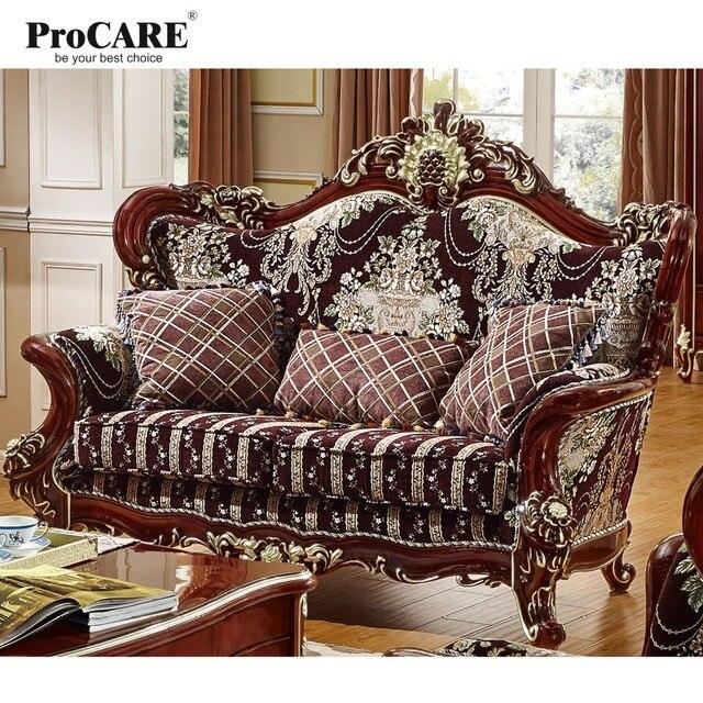Meubles De Salon De Luxe Style Européen Fauteuil Moderne 123 En Forme De  Tissu Sectionnel Canapé