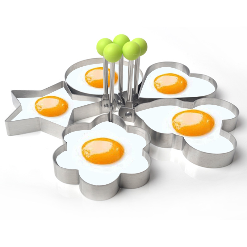 5PCS Simple cooking cute shaped Round only Form For Fried Eggs for  breakfast mold pancake Rings Mold Kitchen Tool DIY Gadgets-in Egg & Pancake  Rings