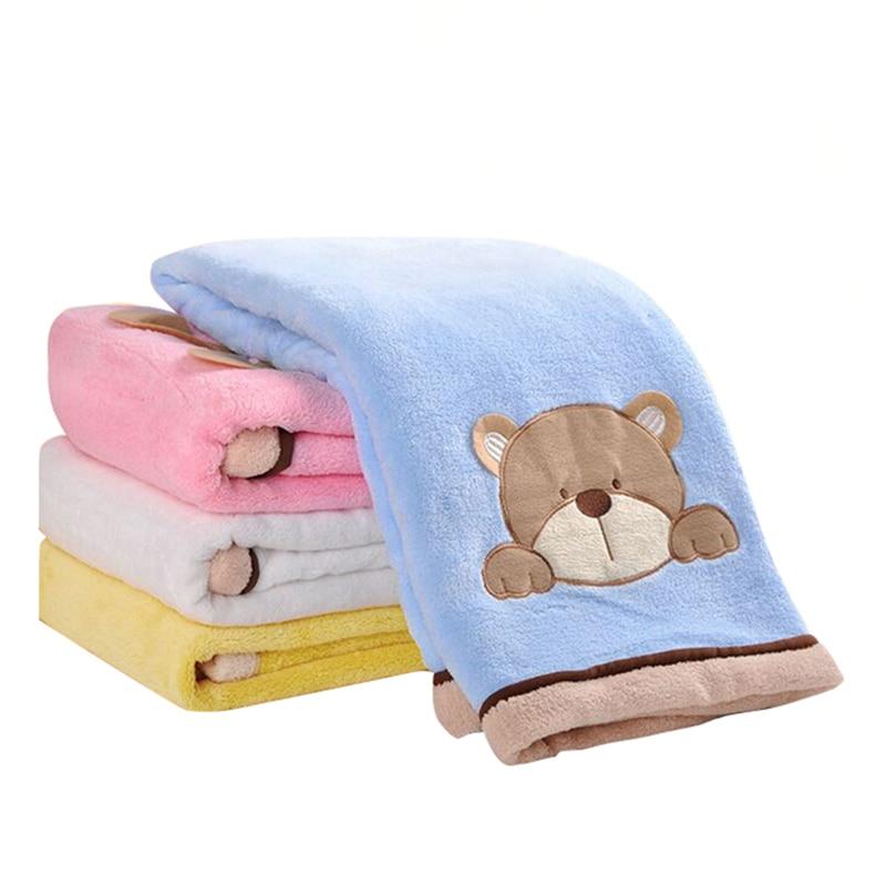 76*102cm Super Soft Polyster Baby Blanket Infant Crib Bedding Cartoon Monkey Rabbit Bear Blanket Newborn Gift For Boys Girls Mother & Kids