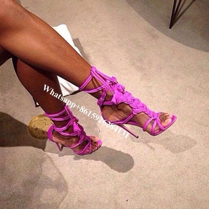 Tressé Hauts Gladiateur as Lacets As Sandales Noué Sexy Shown Chaussures Lanières Tissé Shown Cordes À Femmes Talons Escarpins Franges 5Wqq4BTf