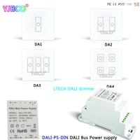 LTECH DALI PS DIN DALI Bus Power supply Dimming Driver;DA1 DA2 DA3 DA4 DALI Touch Panel Switch Dimmer for LED Lamps
