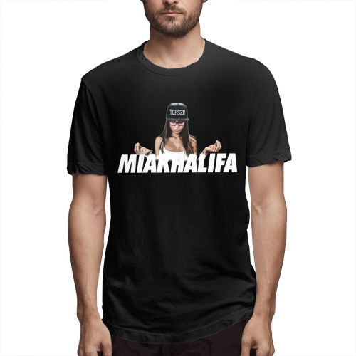 Harajuku Stylish MIA KHALIFAMIA KHALIFA Tee Shirt For Men 3D Print Big Size T-Shirt Top Design New Arrival