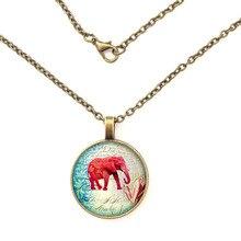 GDRGYB Pink Elephant Glass Pendant Pink Elephant Necklace Pink Elephant Jewelry Birt Stainless Steel Jewelry Necklace цена 2017