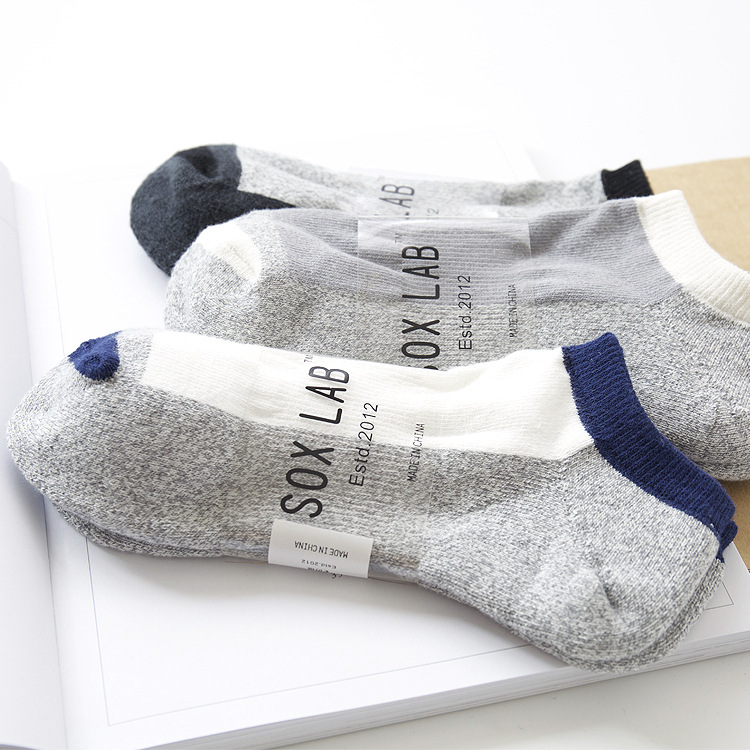 2018 men socks 3 pairs 100% cotton short invisible socks new arrival spring high quality mens socks