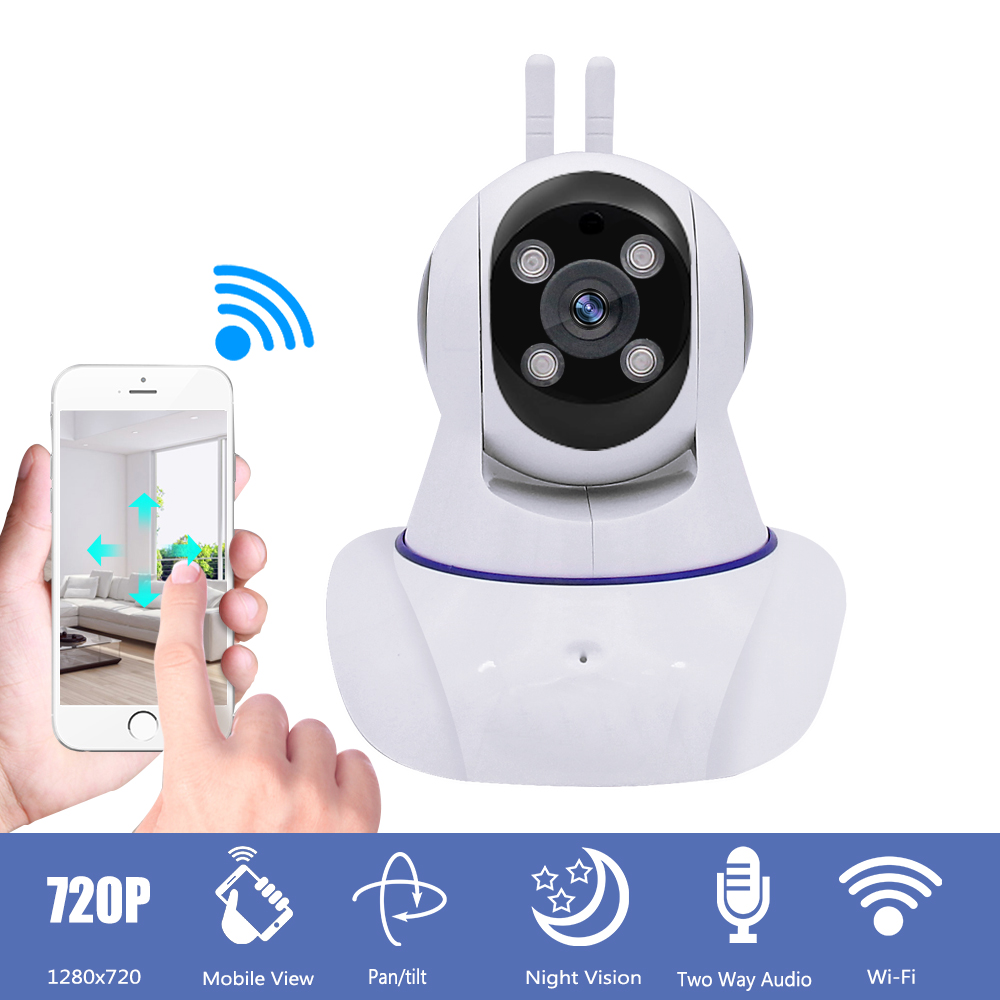HD 720P Wireless CCTV IP Camera Home Surveillance Security Wifi IP Camera Pan Tilt IR Night Vision Motion Detection Baby Monitor blue