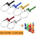 CNC Aluminum Acerbs Throttle Grip Quick Twister + Throttle Cable+free grips CRF50 70 110 IRBIS 125 250 Dirt Bike Motorcycle