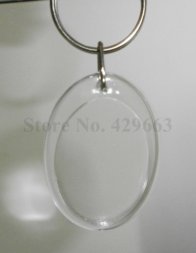 Free shipping 300pcs oval shaped diy acrylic blank picture frame free shipping 300pcs oval shaped diy acrylic blank picture frame keychains transparent blank insert photo keychains in key chains from jewelry accessories jeuxipadfo Image collections