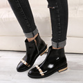 Бесплатная доставка женщин мода кожаные сапоги осенние и зимние ботинки - туфли на высоком каблуке перл мартин сапоги ботильоны размер 35 ~ 40