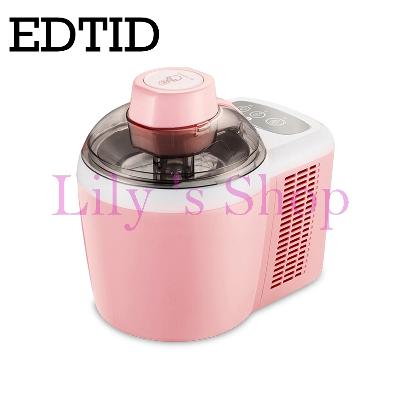 EDTID Full automatic DIY Milkshake ice cream machine mini intelligent Frozen fruit desstert icecream maker Children gift 600ml edtid 12kgs 24h portable automatic ice maker household bullet round ice make machine for family bar coffee shop eu us uk plug