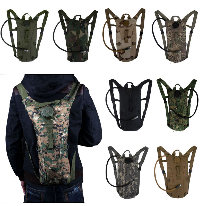 2.5L Hydration System Water Bag Pouch Backpack Bladder Hiking Climbing Camping