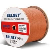BELNET Cat7 RJ45 SFTP Ethernet Network Cable 23AWG Copper LSZH 550MHz 10000Mbp Lan Cable twistd pair Pass Fluke Test 1000Ft 305M