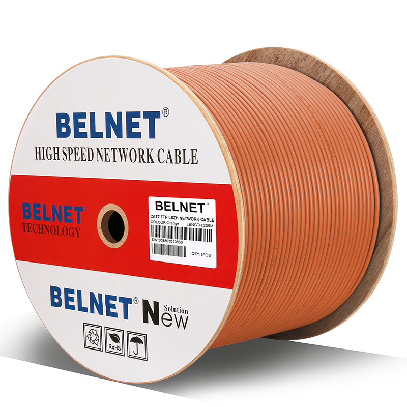BELNET Cat7 RJ45 SFTP Ethernet Network Cable 23AWG Copper LSZH 550MHz 10000Mbp Lan Cable twistd pair Pass Fluke Test 1000Ft 305M кабель регистратора электроэнергии fluke 1730 cable
