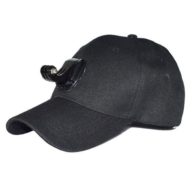 Accesorios gopro ajustable lienzo sombrero de sol cap para hero 5 4 3 sjcam sj4000 sj5000x eken h9r h9 h8 pro yi 4 k de la acción del deporte cámara