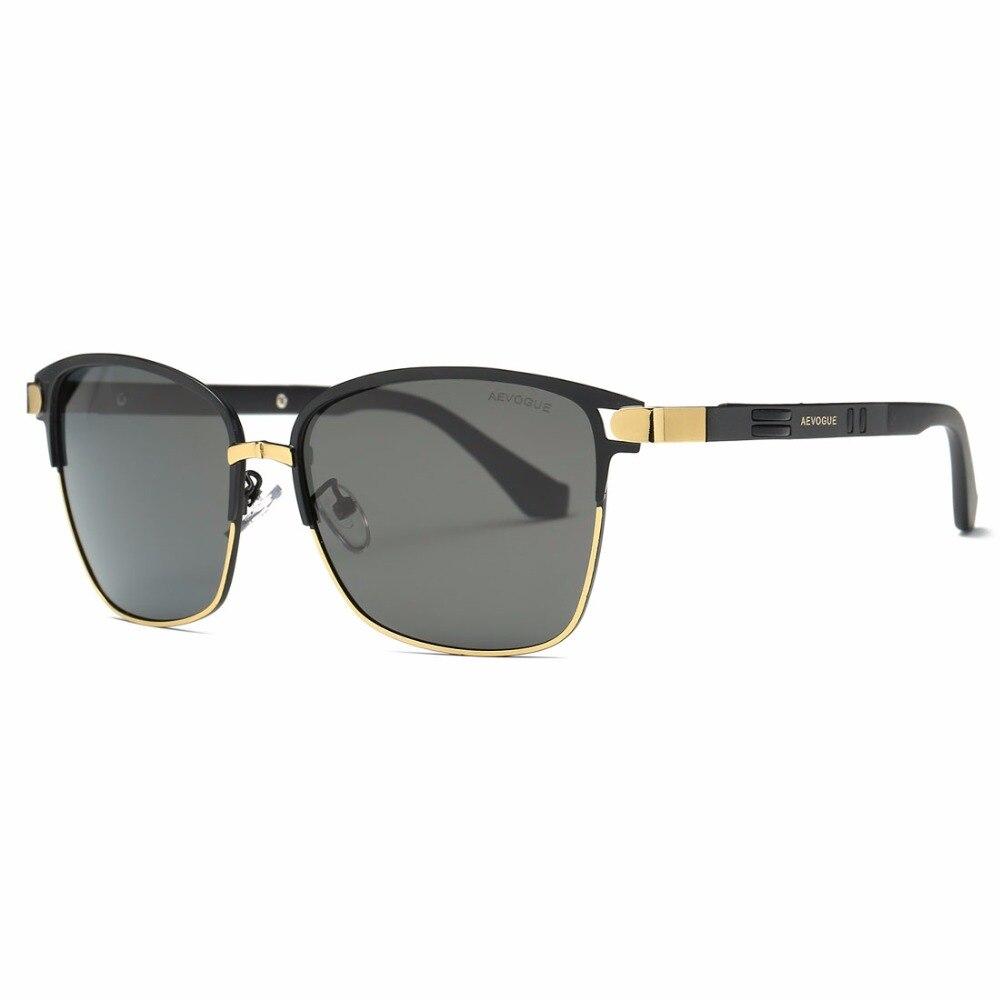a02f7fdfc6 AEVOGUE gafas de sol polarizadas para hombres/mujeres de calidad del lente  de marco de Metal azul verano estilo gafas Unisex AE0524