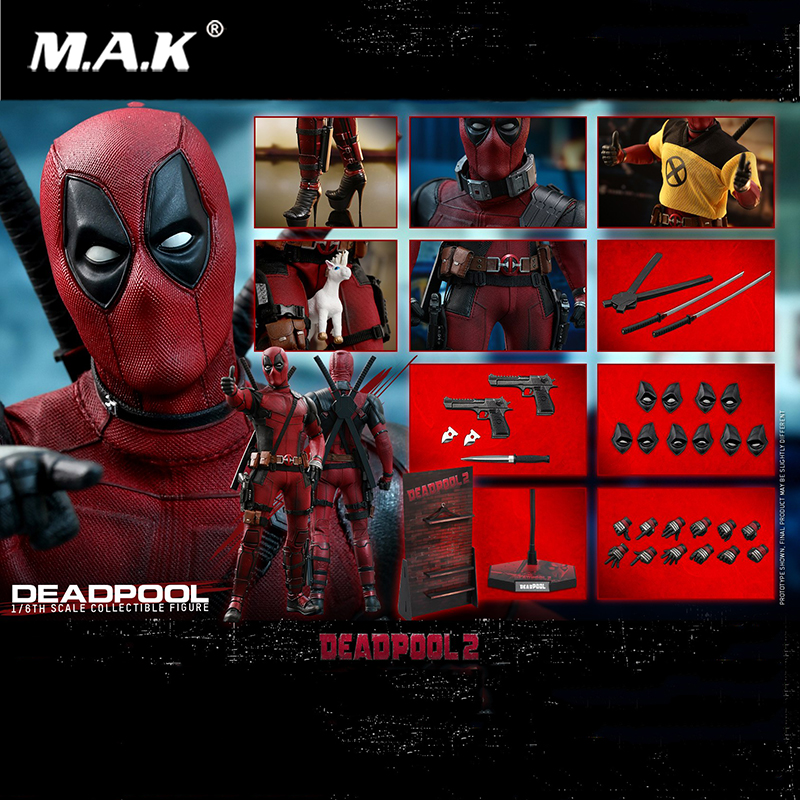 For Collection Deadpool 2 1/6th scale Deadpool MMS490 31cm Collectible Wade Winston Wilson action Figure doll Toy full set