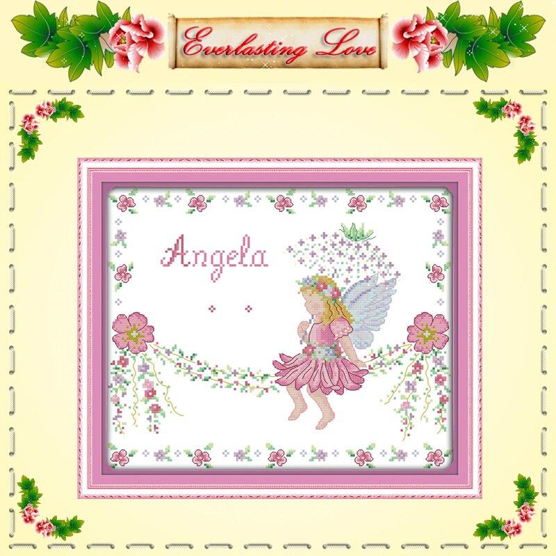 Angelito certificado de nacimiento de dibujos animados chica pintura ...