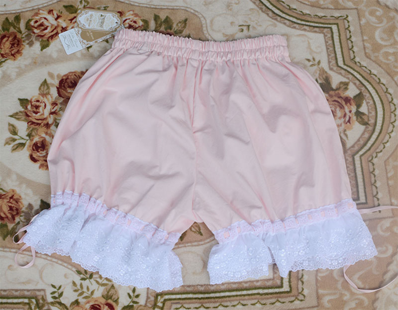 Ladies 3 Colors Pink White Black Safety Short Pants Japan Cotton Lolita Cute Lace Ribbon Pumpkin Underpants For Women