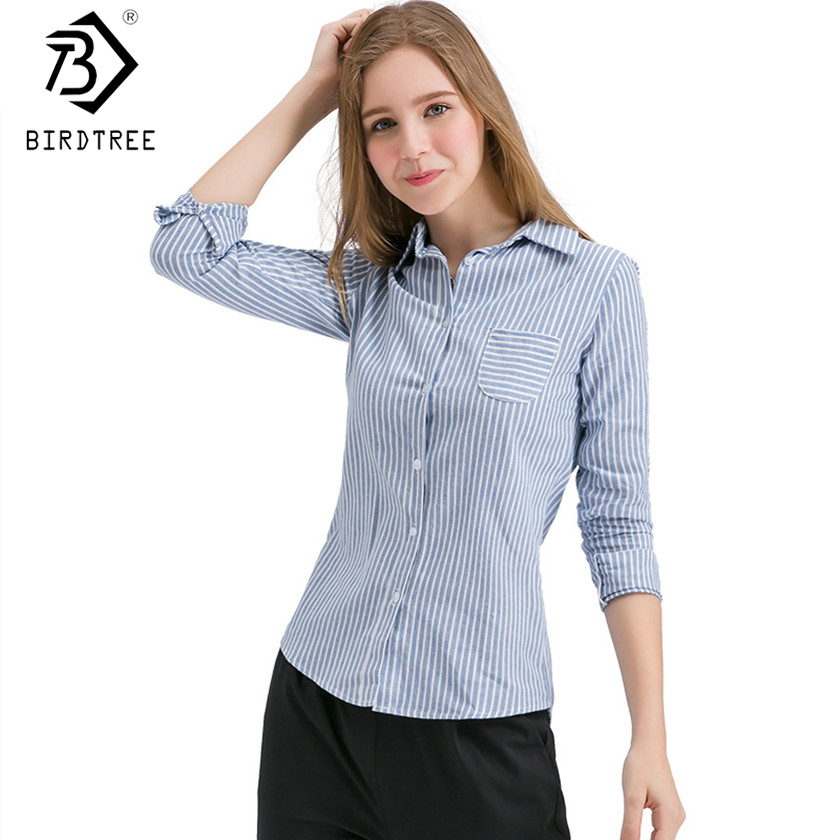 2017 New Korean Spring Autumn Red Gray Body Shirts Woman Work Shirts Women Office Tops Striped Women Blusas New Arrival T7O201A