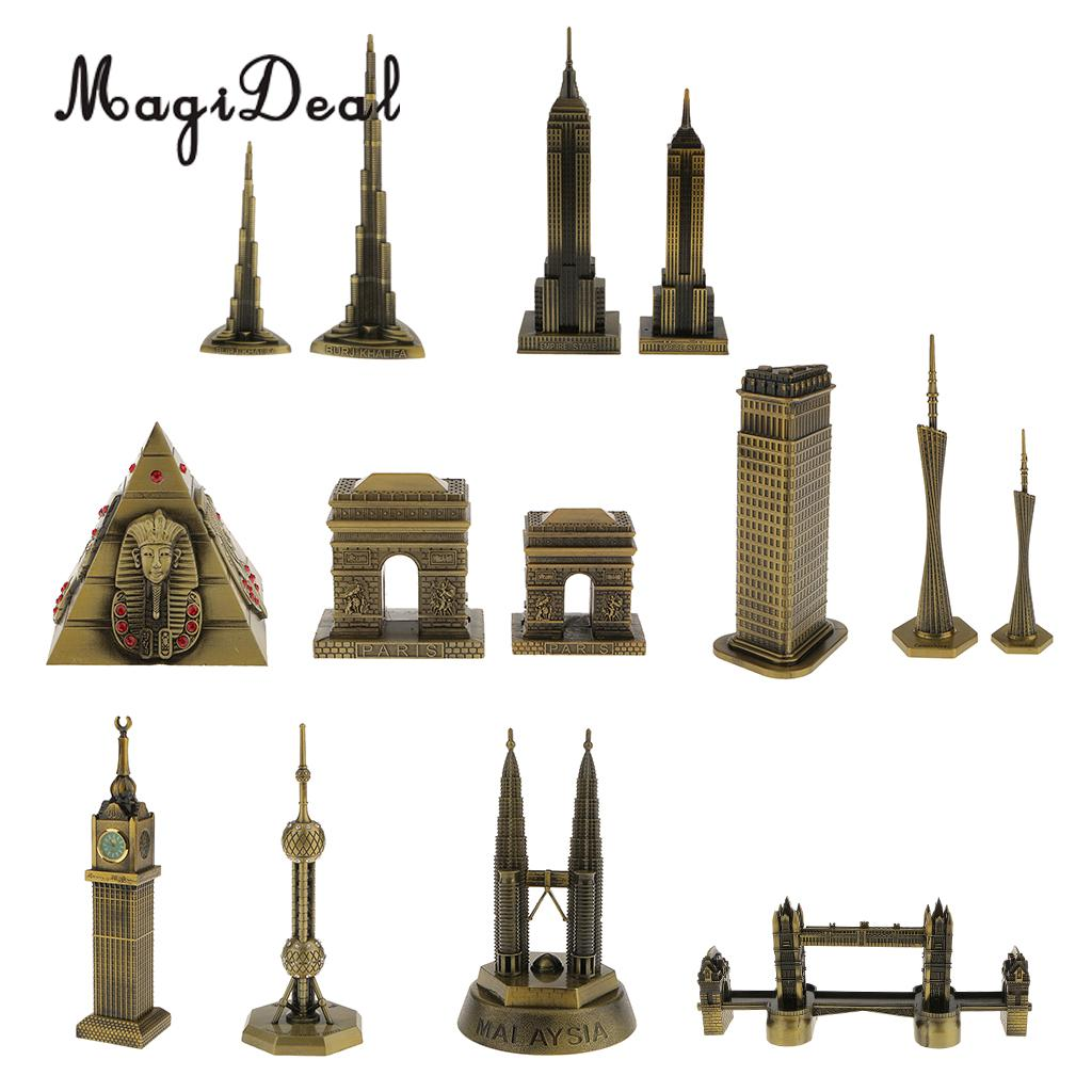 MagiDeal 22cm Bronze Empire State Building Statue Souvenirs from New York City Art Crafts Travel Souvenir Gift