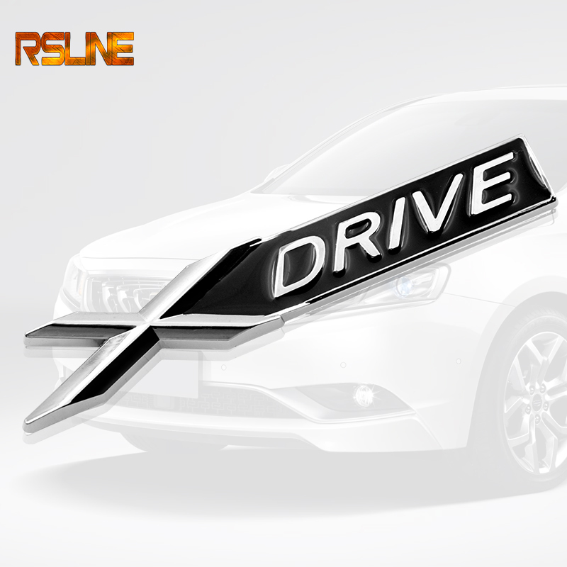 3D Chrome Metal XDRIVE X DRIVE <font><b>Emblem</b></font> <font><b>Logo</b></font> <font><b>Sticker</b></font> Badge Decal Car Styling for <font><b>BMW</b></font> X1 X3 X5 X6 E39 E36 E53 E60 E90 <font><b>F10</b></font> E46 image