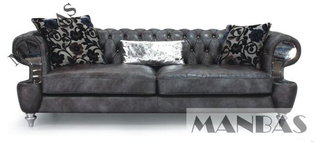2015 New chesterfield leather sofa ,classic sofa leather living room sofa  home furniture 3 seater-in Living Room Sofas from Furniture on ...